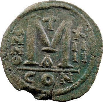 Justinien Ier, follis, Constantinople, 540-541