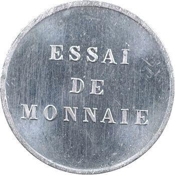 IIIe République, essai du 1/4 de réal, tranche lisse, 1872 Paris