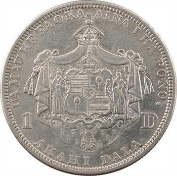 Hawaï, Kalakaua I, 1 dollar, 1883 San Francisco
