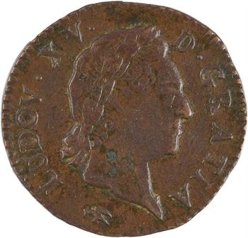 Louis XV, demi-sol à la vieille tête, 1771 Lyon