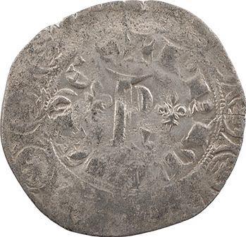 Lyonnais, Lyon (archevêché de), Charles d'Alençon, blanc au K, imitation de Charles V, s.d. Lyon