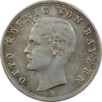 Allemagne, Bavière (royaume de), Othon, 2 mark, 1904 Munich
