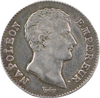 Premier Empire, 1 franc calendrier grégorien, 1806 Paris