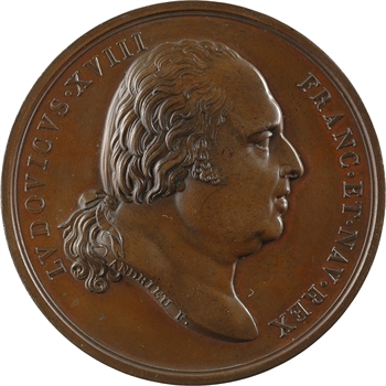 Louis XVIII, mariage du duc de Berry, par Andrieu, 1816 Paris