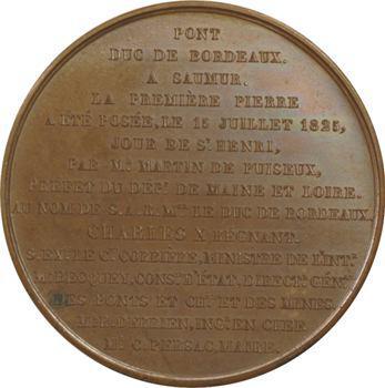 Charles X, pose de la première pierre du pont du duc de Bordeaux à Saumur, 1825 Paris