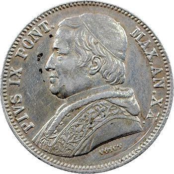 Vatican, Pie IX, 20 baiocchi, 1865/XX Rome