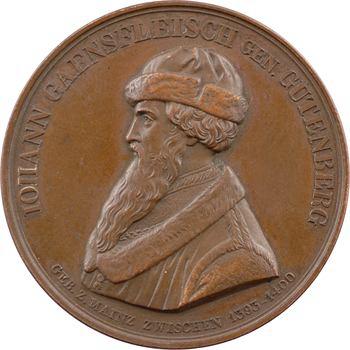 Allemagne, Gutenberg et les 400 ans de l'imprimerie, 1840 Berlin