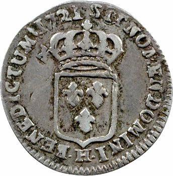 Louis XV, douzième d'écu de France, 1721 La Rochelle