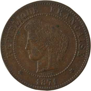 IIIe République, 5 centimes Cérès, 1871 Paris