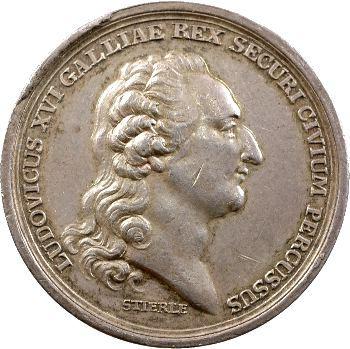 Convention, médaille sur la mort du Roi Louis XVI, par Stierlé, 1793 Berlin