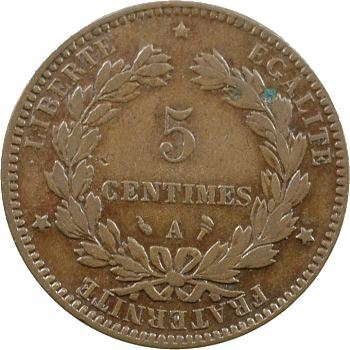 IIIe République, 5 centimes Cérès, 1896 Paris (avec torche)