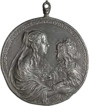 Anne d'Autriche, naissance de Louis XIV, 1638, fonte ancienne