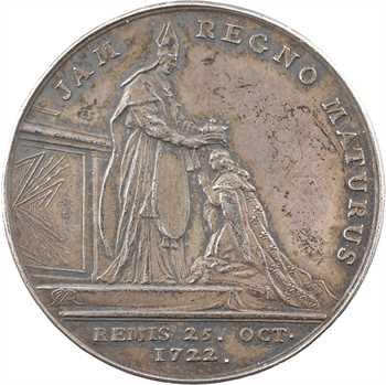 Louis XV, sacre à Reims le 25 octobre 1722, par J.-C. Roëttiers, argent, 1722 Paris