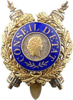 France, IIIe République, plaque de Conseil d'État