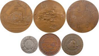 Chemins de fer : France/Espagne, lot de 6 médailles de chemins de fer