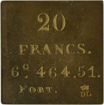 Louis-Philippe Ier, poids monétaire de 20 francs fort, s.d. (c.1835)