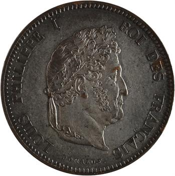 Louis-Philippe Ier, essai de 5 centimes au coq, s.d. Paris variété bicolore