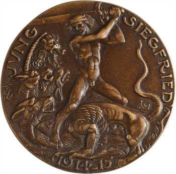 Allemagne/Ire Guerre mondiale, hommage au Prince Guillaume, le jeune Siegfried, par Karl Goetz, 1915 Berlin