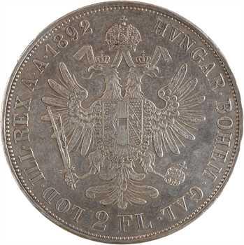 Autriche, François-Joseph Ier, 2 florins, 1892 Vienne
