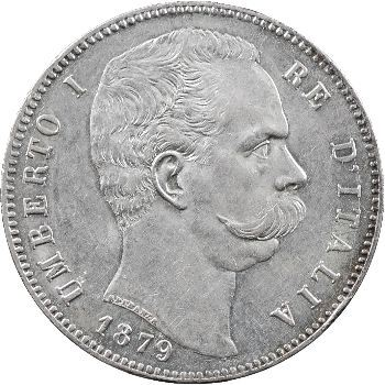 Italie, Humbert Ier, 5 lire, 1879 Rome