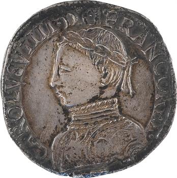 Charles IX, teston 2e type, 1562 La Rochelle