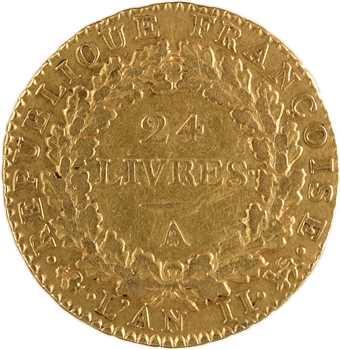 Convention, louis de 24 livres, 1793 Paris