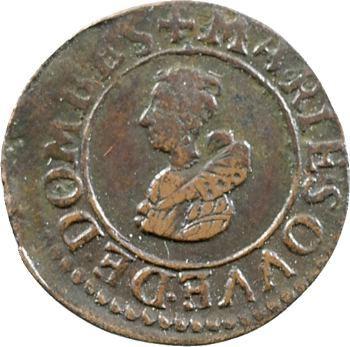 Dombes (principauté de), Marie de Montpensier, denier tournois fauté, 1624 Trévoux
