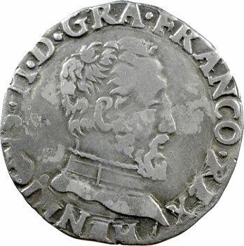 Charles IX (au nom d'henri II), demi-teston à la tête nue 5e type, 1561 Toulouse
