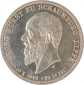 Allemagne, Schaumbourg-Lippe (principauté de), Georges, 3 mark, 1911 Berlin PROOFLIKE