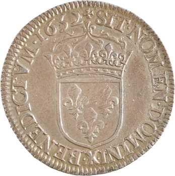 Louis XIV, demi-écu à la mèche longue, 1652 Amiens