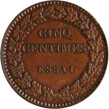 Louis-Philippe Ier, essai de cinq centimes, s.d. Paris