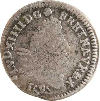 Louis XIV, 4 sols aux 2 L, 1695 Poitiers