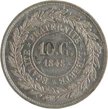 IIe République, essai de 10 centimes par Barre, 1848 Paris