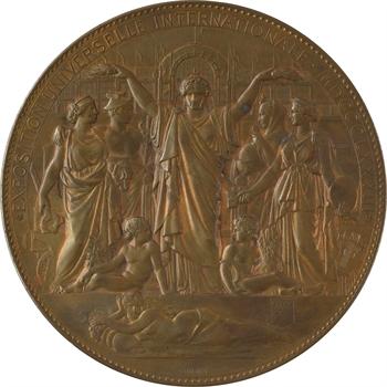 Oudiné (E.-A.) : inauguration de l'Exposition Universelle de Paris, par Oudiné, coffret d'origine, 1878 Paris