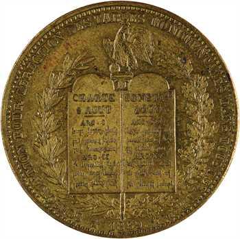 Louis-Philippe Ier, module du décime, érection des tables monumentales, 1839 flan épais