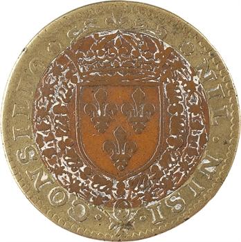 Conseil du Roi, Louis XIII, jeton bimétallique, 1622 Paris