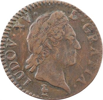 Louis XV, demi-sol à la vieille tête, 1771 Troyes