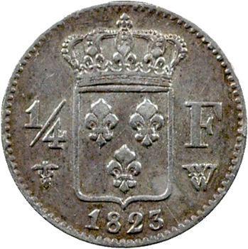 Louis XVIII, 1/4 de franc, 1823 Lille