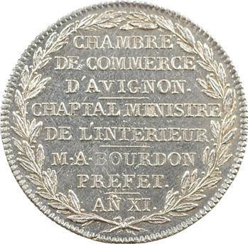 Comtat Venaissin, Avignon, Chambre de commerce, Consulat, AN XI (1802-1803)