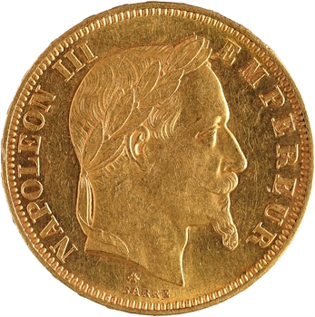 Second Empire, 50 francs tête laurée, 1867 Paris