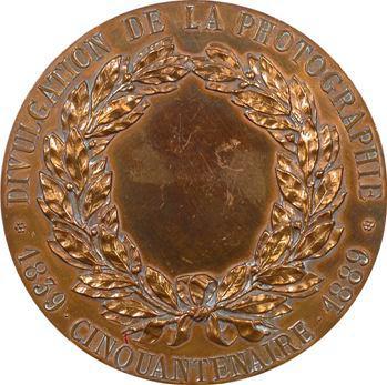 IIIe République, cinquantenaire de l'invention de la photographie, Niepce et Daguerre, par Soldi, 1889 Paris
