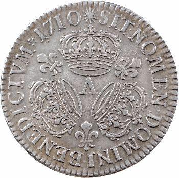 Louis XIV, demi-écu aux trois couronnes, 1710 Paris