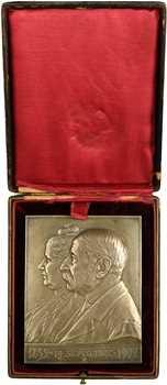 Kautsch (H.) : plaquette de noces d'or, fonte, 1852-1902