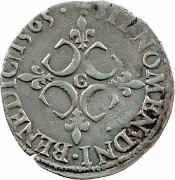 Charles IX, sol parisis 1er type, 1565 Saint-Lô