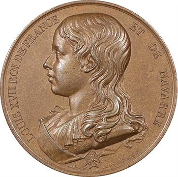 Louis XVII, médaille commémorative par Caqué, époque Restauration, s.d