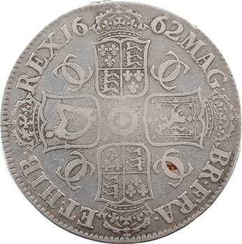 Angleterre, Charles II, couronne (crown), 1662 Londres