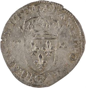 Henri III, douzain aux 2 H, 1er type, 1587 Saint-Lô