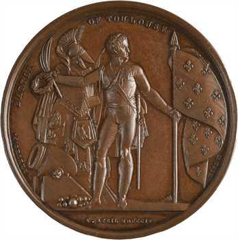 Royaume-Uni/Premier Empire, la bataille de Toulouse, par Mudie et Brenet, 1814 Paris