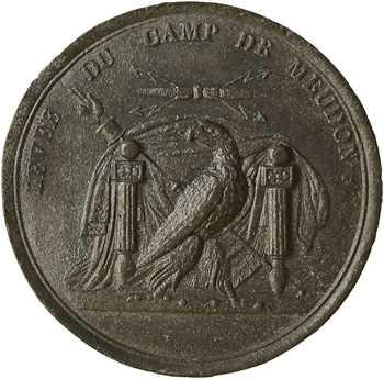 Premier Empire, la levée du camp de Meudon, cliché, s.d. (1806) Paris