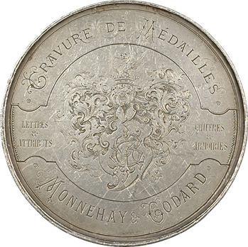 IIIe République, médaille publicitaire des graveurs Monnehay et Godard à Paris, s.d (1860-1879) Paris